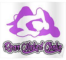Rear Naked Choke Mixed Martial Arts Purple 2 Poster