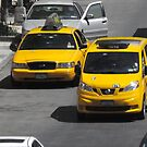 Yellow NYC Cabs by Paulychilds