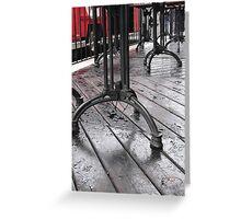 summer patio Greeting Card