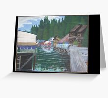 Downtown Ketchican Alaska Greeting Card