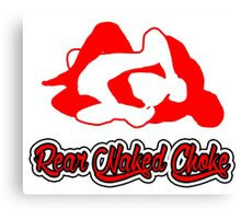 Rear Naked Choke Mixed Martial Arts Red 2 Canvas Print