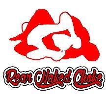 Rear Naked Choke Mixed Martial Arts Red 2 Photographic Print