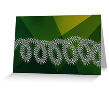 Barbed wire and nature Greeting Card