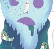 Pastel Goth Zombie Uterus Sticker