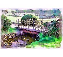 The Zen Garden Bridge Photographic Print