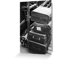 Old luggage Greeting Card