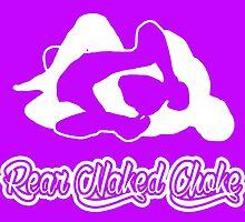 Rear Naked Choke Mixed Martial Arts White 2 by yin888