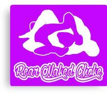 Rear Naked Choke Mixed Martial Arts White 2 Canvas Print