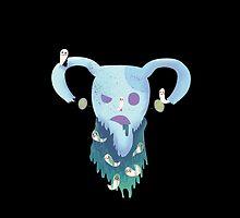 Pastel Goth Zombie Uterus by pirateprincess