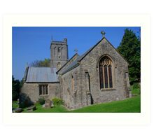 St Michael's Church, Brent Knoll Art Print