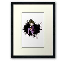 Young joker Framed Print