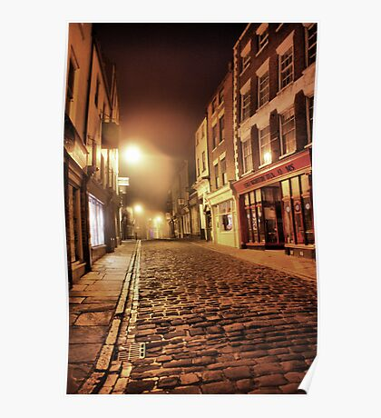 Whitby Back Alley @  4.a.m. Poster