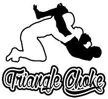 Triangle Choke Mixed Martial Arts Black  by yin888