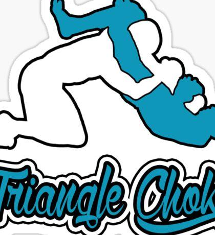 Triangle Choke Mixed Martial Arts Blue  Sticker