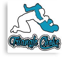 Triangle Choke Mixed Martial Arts Blue  Canvas Print