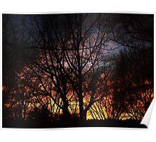 Winter Sunset #7826 Poster