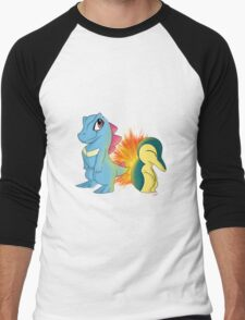 Totodile and Cyndaquil Men's Baseball ¾ T-Shirt