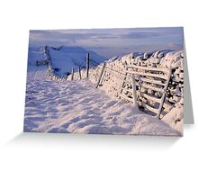 Winter on The Helm - Cumbria Greeting Card