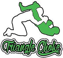 Triangle Choke Mixed Martial Arts Green  by yin888