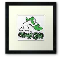 Triangle Choke Mixed Martial Arts Green  Framed Print