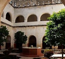 Tepoztlan, convent courtyard by Shirley  Poll