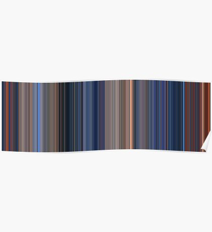 Moviebarcode: Terminator 2: Judgment Day (1991) [Simplified Colors] Poster