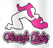 Triangle Choke Mixed Martial Arts Pink  Poster