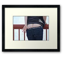 Can't touch this! Framed Print