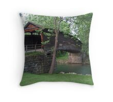 The Humpback Covered Bridge Throw Pillow