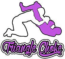 Triangle Choke Mixed Martial Arts Purple  by yin888