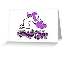 Triangle Choke Mixed Martial Arts Purple  Greeting Card