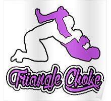 Triangle Choke Mixed Martial Arts Purple  Poster