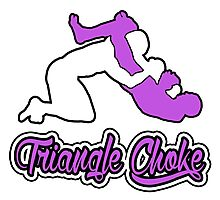 Triangle Choke Mixed Martial Arts Purple  Photographic Print