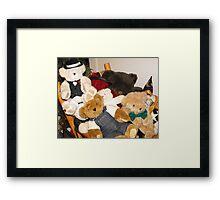 Beary Crowded Framed Print