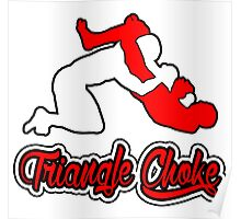 Triangle Choke Mixed Martial Arts Red  Poster