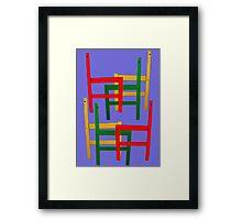 Multi Coloured Chair Frames Framed Print