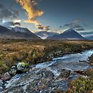 Rapids, Glen Etive, dusk by Gary Eason