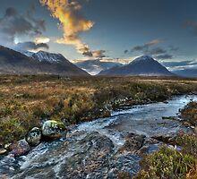 Rapids, Glen Etive, dusk by Gary Eason