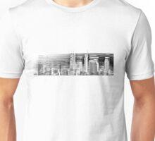 Black & White Perth Skyline Unisex T-Shirt