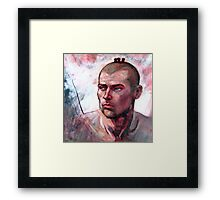 Portrait of Ben, oil painting on stretched canvas Framed Print