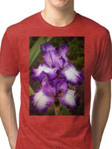 Purple And White Iris Tri-blend T-Shirt