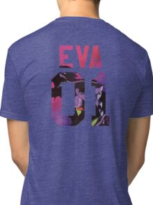 EVA MACHINE 01- BACKPIECE Tri-blend T-Shirt