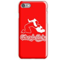 Triangle Choke Mixed Martial Arts White  iPhone Case/Skin