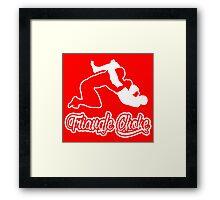 Triangle Choke Mixed Martial Arts White  Framed Print