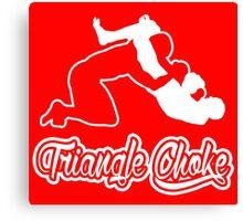 Triangle Choke Mixed Martial Arts White  Canvas Print