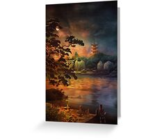 Magic of Japanese gardens. Greeting Card