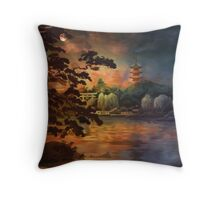 Magic of Japanese gardens. Throw Pillow