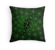 Escher Deep Green Throw Pillow
