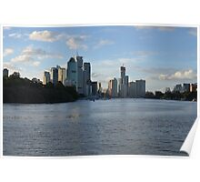 Brisbane City late afternoon Poster
