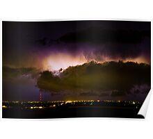 Lightning Thunderstorm Cloud Burst Poster